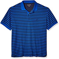 A vented hem gives you a little extra room to move Classic fit polo shirt with a striped design and sporty styling