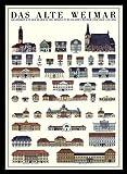 Weimar Das alte Weimar Poster Kunstdruck Bild im Alu Rahmen