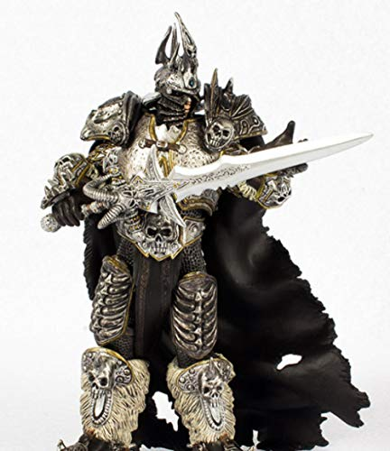 Quner-Propel World of Warcraft Wow Lich King 7 inch Alsace arthas Death Knight Model Anime Doll Model