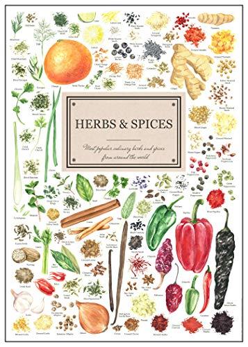 Poster Herbs & Spices - Küchenkräuter & Gewürze - Bild Kunstdruck 50 x 70 cm Einrichtung Küche