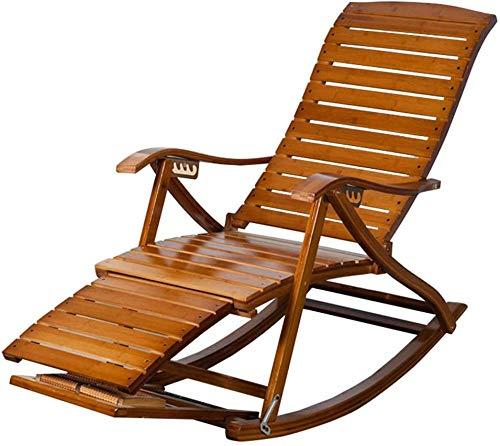 W-YYXMB Regalo de Verano Silla de jardín reclinable Vintage Mecedora Plegable para...