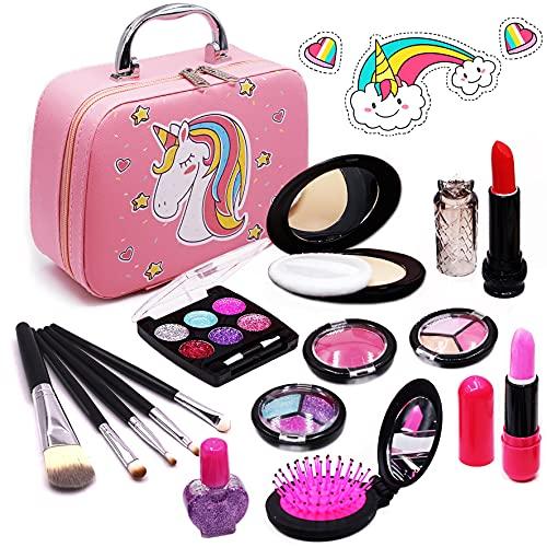 Senrokes Washable Makeup Kit Girls Toy Girls Play Real Makeup Kit,...