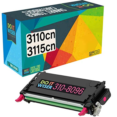 Do it Wiser Remanufactured Toner Cartridge Replacement for Dell 3110cn 3115cn 3110 3115 | 310-8096 - High Yield 8,000 Pages (Magenta)