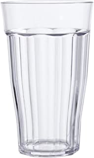 Rhapsody 16-ounce Faceted Plastic Water Tumblers   set of 8 Clear