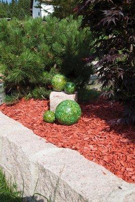 Gartenkugeln Edelstahl mit grün marmoriertem Finish, 4er Set, (2 x Ø 10 cm, 1 x Ø 15 cm, 1 x Ø 20 cm) wetterbeständig 10/15/20cm NEU Gartendeko Rosenkugel