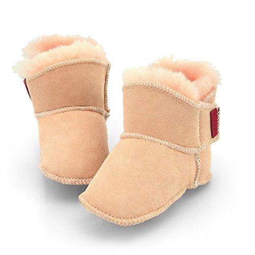 Engel Babyschuhe aus Lammfell mit Klettverschluss (1-Klett) pink rosa 18/19