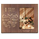 Ku-dayi 1 Year of Marriage Picture Photo Frame, Our 1st Wedding Anniversary, 1 Year as Husband & Wife, Gifts for Her, for Him, for Couples