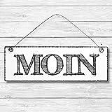 Moin - Dekoschild Türschild Wandschild aus Holz 10x30cm - Holzdeko Holzbild Deko Schild