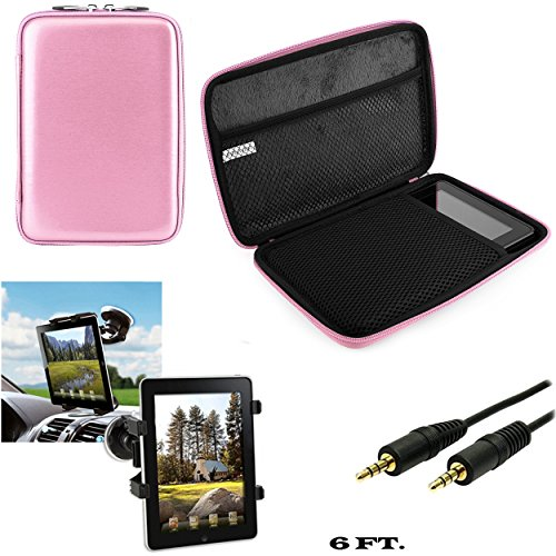 Vangoddy Nylon Carrying Cube Case for Acer Iconia B1 720, B1 A71, B1 710 7 inch Tablet and Auxiliary Cable and Windshield Car Mount