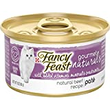 Purina Fancy Feast Grain Free, Natural Pate Wet Cat Food, Gourmet Naturals Beef Recipe - (12) 3 oz. Cans