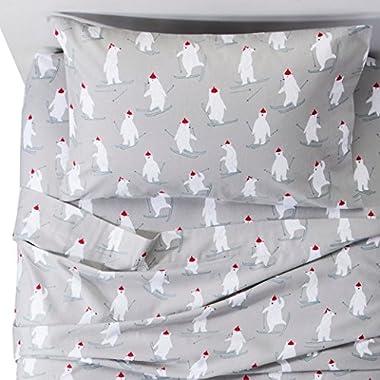 Polar Bear Flannel Sheet Set Queen