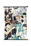 Haikyuu Japan Anime Póster de desplazamiento Tamaño 30 x 45 cm (12 x 18 in)