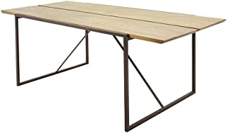 Wood & Style Furniture Brooklyn Dining Table Oak Home Office Commerial Heavy Duty Strong Décor
