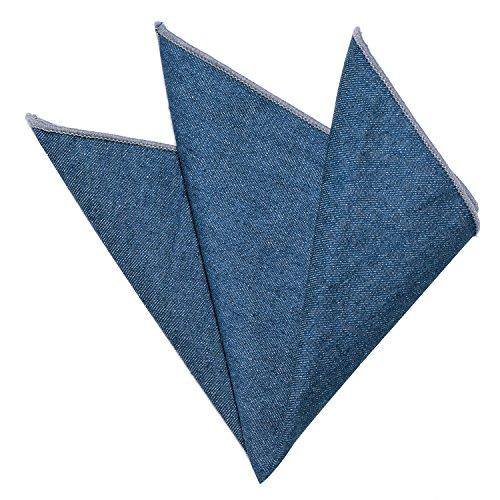 DonDon fazzoletto da taschino di cotone in Jeans Look 23 x 23 cm per uomo regolabile blu