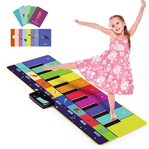 音楽マット Joyjoz プレイマット ピアノマット ピアノミュージックマット 折り畳み 安全無毒 滑り止め 10鍵 デモモード 触感ゲーム お誕生日 防水 プレイマット クッションマット 110*36cm