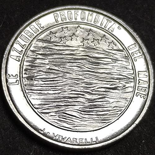 SHFGHJNM Monete Commemorative 1977 European San Marino 2 Monete straniere Lira Rare