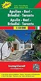 Apulien - Bari - Brindisi - Taranto, Autokarte 1:150.000, Top 10 Tips: Toeristische wegenkaart 1:150 000 (freytag & berndt Auto + Freizeitkarten)