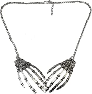 Charm Gothic Halloween Series Necklace Earring Skull Skeleton Hand Claw Pendant Chain for Womens Girls
