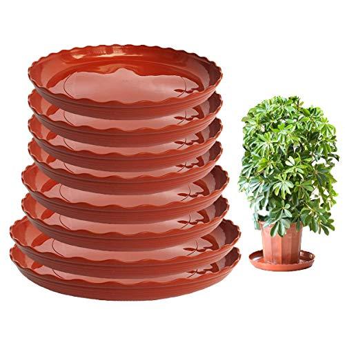 Qiundar Plato Maceta Plastico, 8 Pcs Platillos Plantas Bandeja de Goteo Plantas Plant Saucer para Macetas Nteriores y Exteriores(3 Talla)