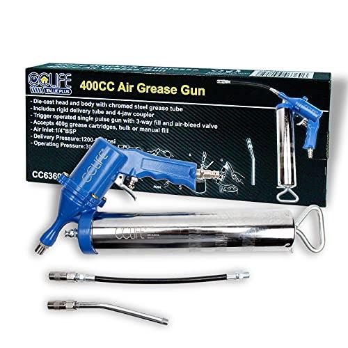 CCLIFE Pistola engrasadora Pistola de engrase neumática Bomba de engrase 6000 psi entrada de aire BSP de 1 4 pulgadas