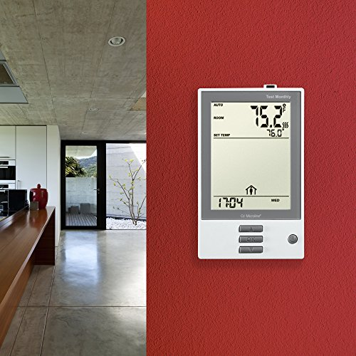 OJ Electronics UDG-4999 nHance Programmable Thermostat, with Floor Sensor, Class A GFCI , (White)