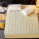 HNLHLY Sábana de algodón, Funda de Cama Acolchada de algodón, Funda de colchón Simmons, Antideslizante, Altura de Tela 30 cm-J_180cm × 220cm
