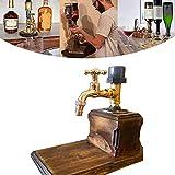 DHHZRKJ 2021 Dispenser di liquore al Whisky in Legno Regalo per la Festa del papà, distributore di Forma di Rubinetto Creativo, per Stazione di Bevande per Bar per Feste,Single