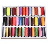 Gearmax Hilos de Coser de Poliéster para Costura Conjunto de 39 Colores Bobinas Surtidas