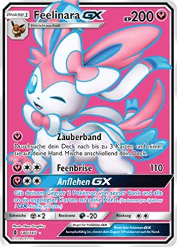 Feelinara GX 140/145 Full Art Pokémon Sonne & Mond Stunde der Wächter Sammelkarte - Deutsch - Cardicuno