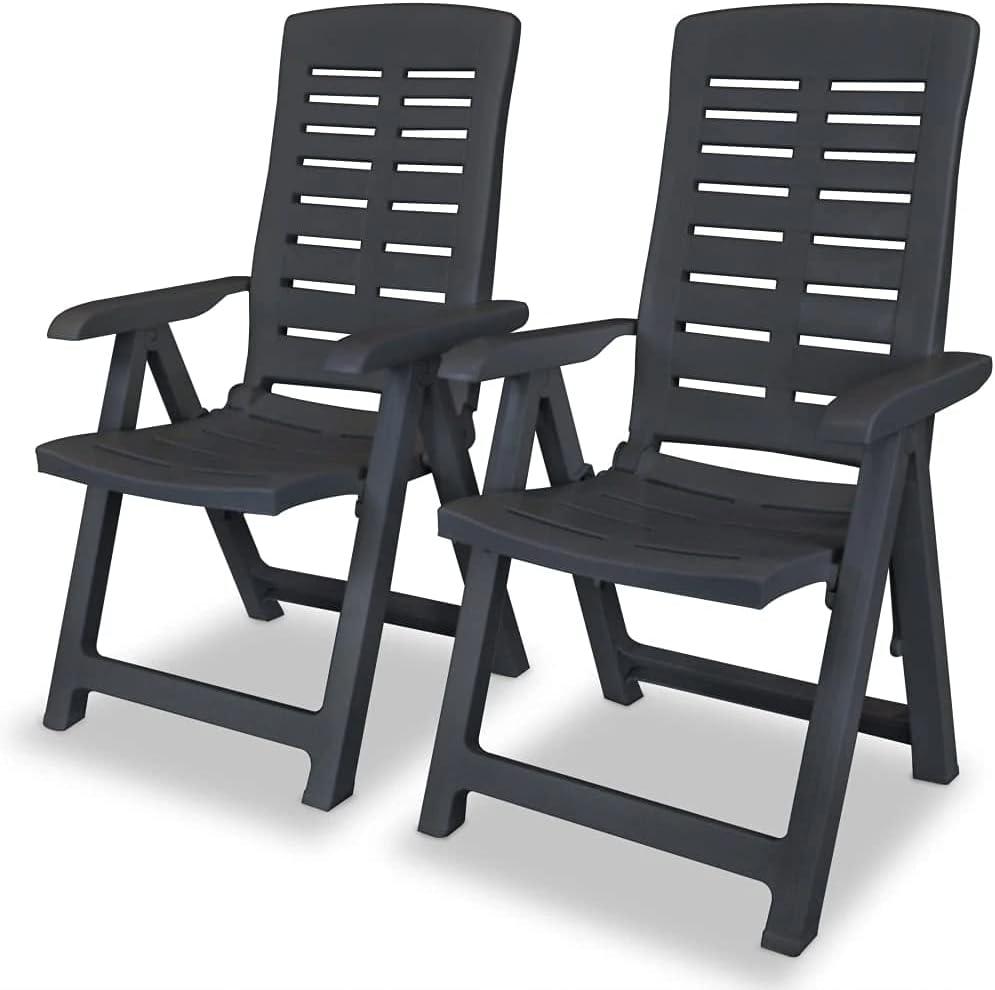 vidaXL 2X Reclining Garden 全商品オープニング価格 Chairs 激安格安割引情報満載 Bistro Chair Outdoor Out