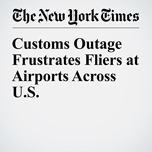 Customs Outage Frustrates Fliers at Airports Across U.S. copertina