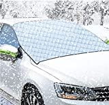 ECOMP Car Windshield Snow Cover, Car Windscreen Frost Cover Magnetic Snow Cover Windshield Ice Cover Front Windscreen Sunshades Protector with Hidden Magnets Fits for Small Middle Cars