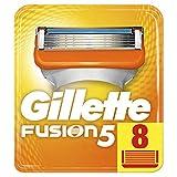 Gillette Fusion Lot de 8lames de rasoir pour hommes