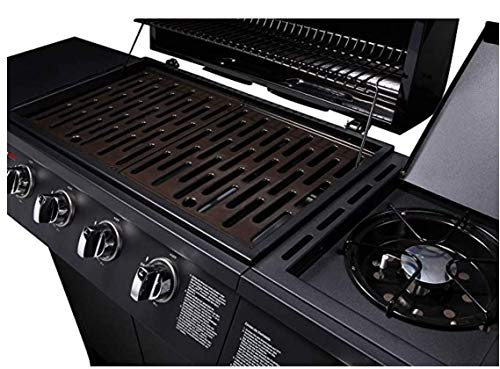 CosmoGrill 4+1 Series Gas BBQ with Side Barbecue Burner and Storage (4+1 BBQ with Cover)