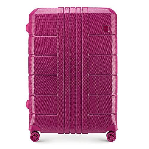 WITTCHEN Koffer – Großer | hartschalen, Material: polycarbonat | hochwertiger und Stabiler | Rosa | 88 L | 73x29x51 cm