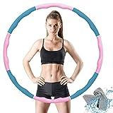 VANBAR Hula Hoop, Fitness Hula Hoop Adulti Fitness per Design Staccabile a 8 sezioni,Hula Hoop Dimagrante...