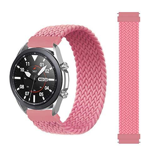EMIOBAND Correa Solo Loop Trenzada 20mm Compatible con Galaxy Watch Active/Active 2 (40mm)(44mm)/Galaxy Watch 3 41mm/Gear Sport/Galaxy Watch 42mm/Gear s2 Elastic Sports Correa