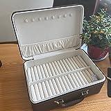 Caja de almacenamiento de pulsera de jade esmeralda pulsera de almacenamiento de múltiples casas, maleta portátil de alto grado caja de pulsera - verde, 35 x 24 x 13,5 cm