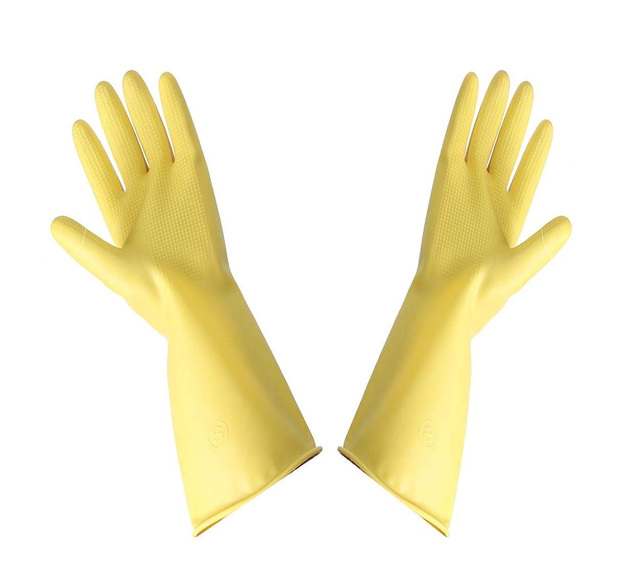 性的マダムバーストMILISION キッチングローブ 家事掃除用 作業用 家庭用 炊事 掃除用ゴム手袋 【 手袋1足 】