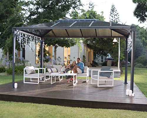 Palram Martinique 4300 Garden Gazebo - Robust Structure for Year-Round Use