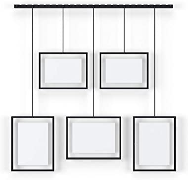 Umbra Exhibit Picture Frame Gallery Set Adjustable Collage Display for 5 Photos, Prints, Artwork & More (Holds Two 4 x 6