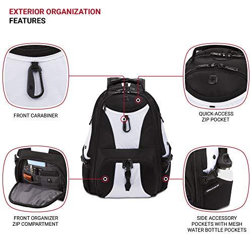 SWISSGEAR 1900 ScanSmart Laptop Backpack- White/Black