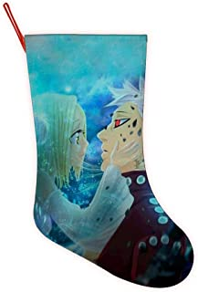 VSHFGC The Se-vEn D-eaD-ly Si-NS Christmas Stockings Big Xmas Stockings Fireplace Hanging Stocking for Family Holiday Xmas Party Decorations