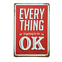 Every Thing OK 金属板ブリキ看板警告サイン注意サイン表示パネル情報サイン金属安全サイン