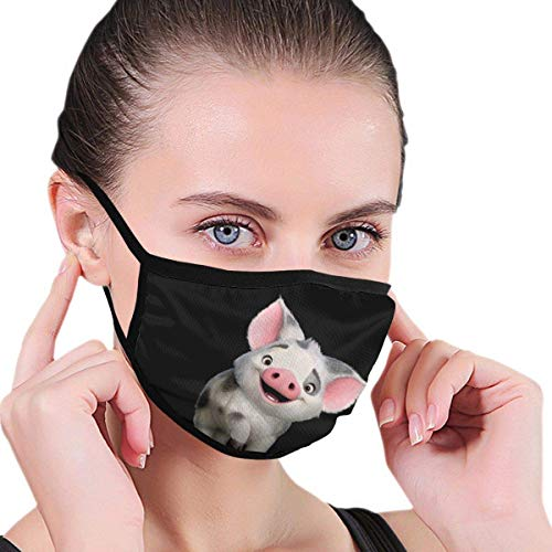 Richard Moana Pua The Pot Bellied Pig Logo Outdoors Dustproof Washable Reusable Air Filter Protection Comfy Windproof Facial Protection