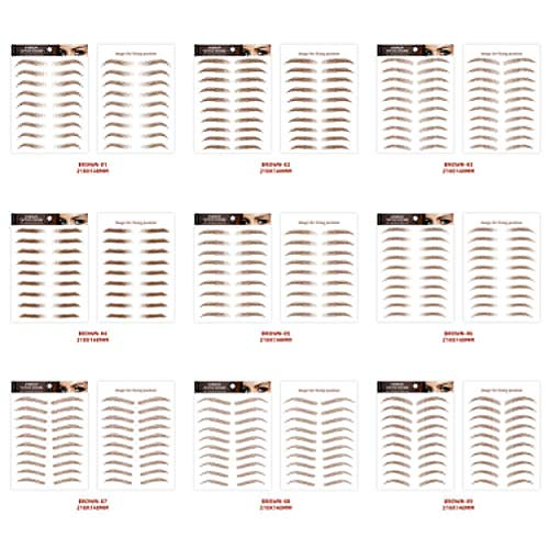 Lvhan Augenbrauen Aufkleber - 10 Paar 6D Aufkleber kosmetische Werkzeuge