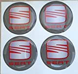 GTBTunning - Pegatinas para tapacubos de coche, 50mm, tuning, efecto 3D, adhesivos resinados 3M, 4unidades