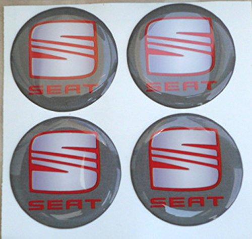 Adhesivos de resina tapacubos, color gris, de 60mm Pegatinas para tuning en 3D (4 unidades)