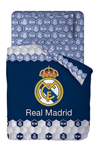Real Madrid Juego De Sabanas de 3 Piezas (160x270 +...