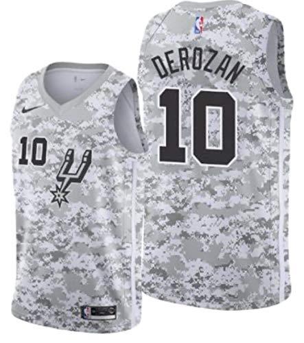 Nike DeMar DeRozen San Antonio Spurs Earned Edition White Camo Swingman Jersey - Men's Medium